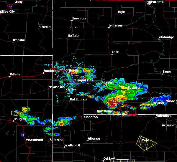 Radar Image for Severe Thunderstorms near Martin, SD at 7/20/2020 5:01 PM MDT