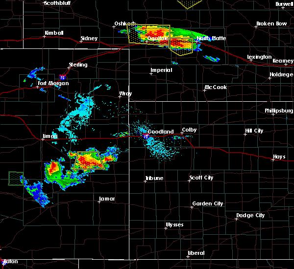 Radar Image for Severe Thunderstorms near Kit Carson, CO at 7/20/2020 5:04 PM MDT