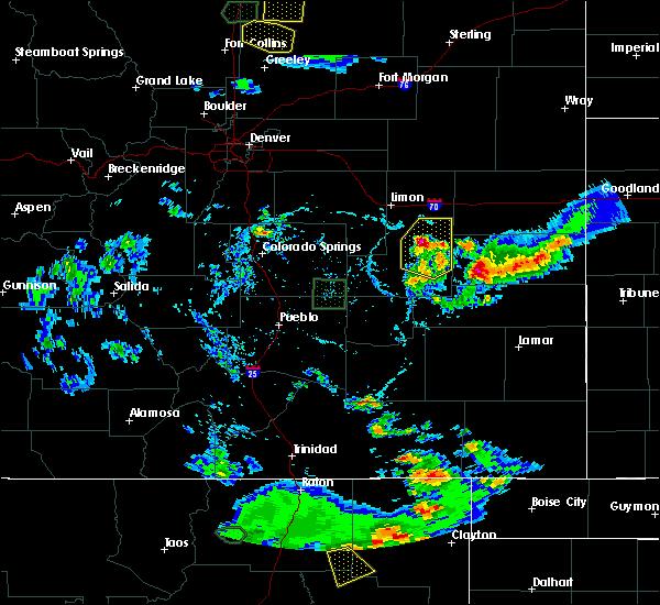 Radar Image for Severe Thunderstorms near Hugo, CO at 7/20/2020 5:27 PM MDT