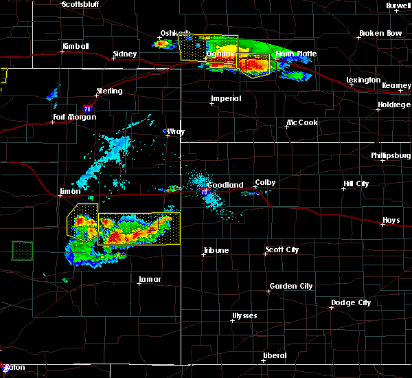 Radar Image for Severe Thunderstorms near Cheyenne Wells, CO at 7/20/2020 5:30 PM MDT