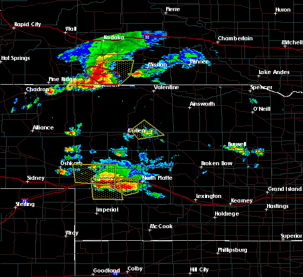 Radar Image for Severe Thunderstorms near Wallace, NE at 7/20/2020 6:35 PM CDT