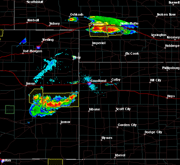 Radar Image for Severe Thunderstorms near Cheyenne Wells, CO at 7/20/2020 5:42 PM MDT
