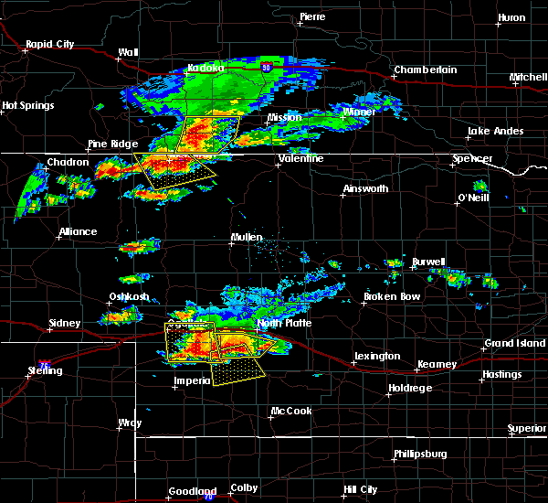 Radar Image for Severe Thunderstorms near Wallace, NE at 7/20/2020 6:57 PM CDT
