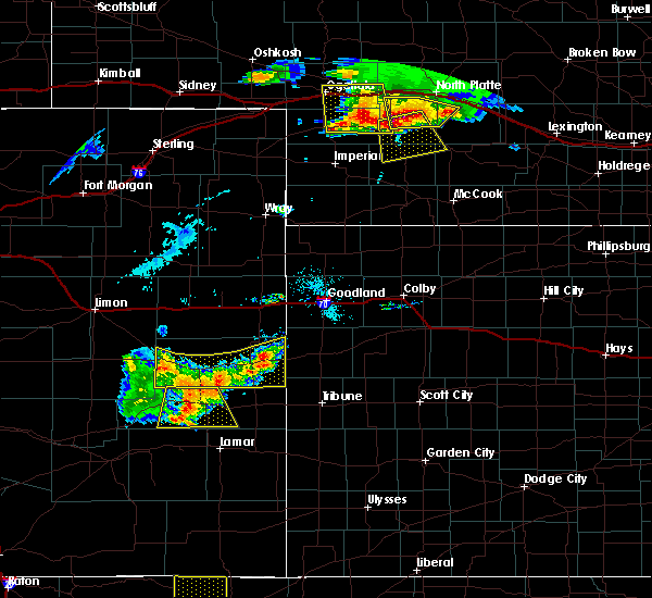 Radar Image for Severe Thunderstorms near Cheyenne Wells, CO at 7/20/2020 6:01 PM MDT