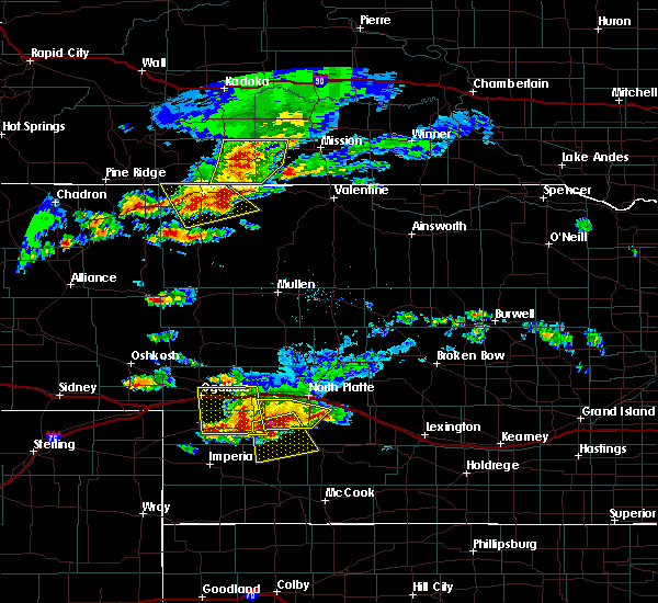 Radar Image for Severe Thunderstorms near Wallace, NE at 7/20/2020 7:07 PM CDT