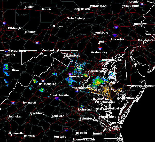 Radar Image for Severe Thunderstorms near Wakefield, VA at 7/20/2020 8:08 PM EDT