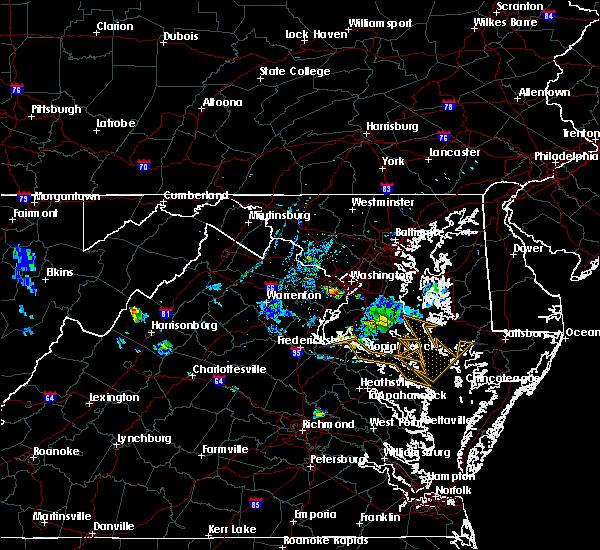 Radar Image for Severe Thunderstorms near Wakefield, VA at 7/20/2020 8:14 PM EDT