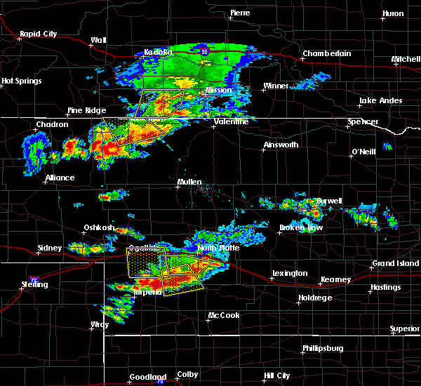 Radar Image for Severe Thunderstorms near Wallace, NE at 7/20/2020 7:25 PM CDT