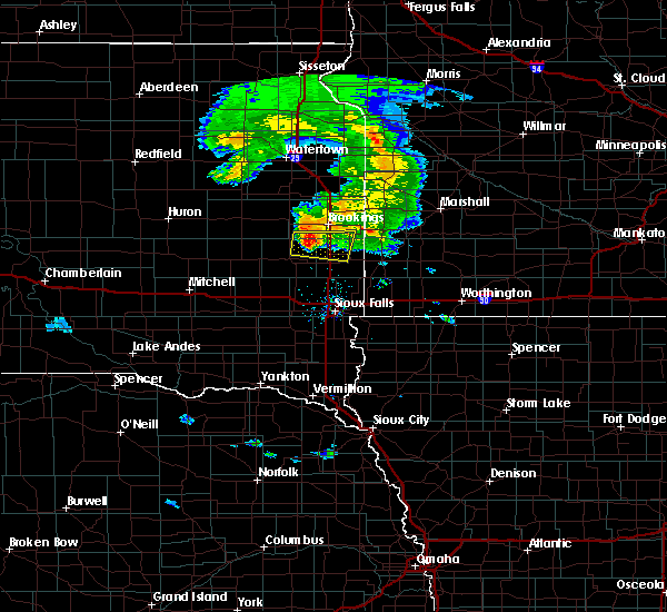 Radar Image for Severe Thunderstorms near Egan, SD at 7/20/2020 7:38 PM CDT