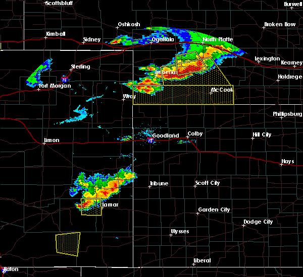 Radar Image for Severe Thunderstorms near Hayes Center, NE at 7/20/2020 7:47 PM CDT