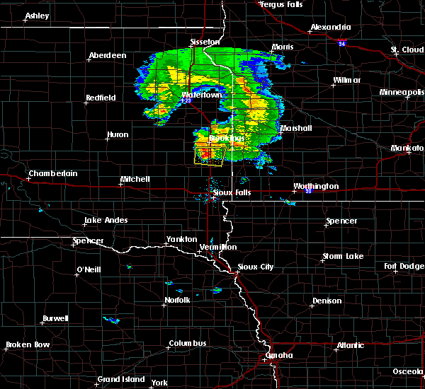 Radar Image for Severe Thunderstorms near Egan, SD at 7/20/2020 7:50 PM CDT