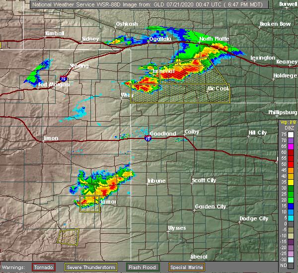 Radar Image for Severe Thunderstorms near Hayes Center, NE at 7/20/2020 7:51 PM CDT