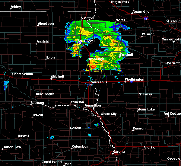 Radar Image for Severe Thunderstorms near Egan, SD at 7/20/2020 8:11 PM CDT