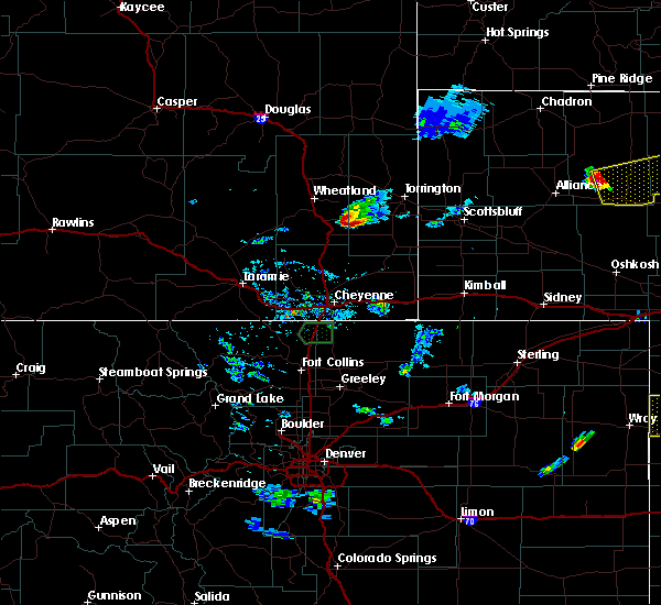 Radar Image for Severe Thunderstorms near Slater, WY at 7/20/2020 7:25 PM MDT