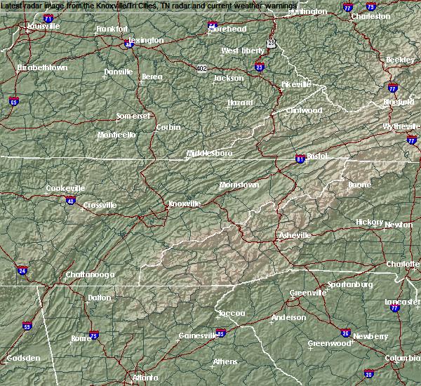Radar Image for Severe Thunderstorms near Oak Ridge, TN at 7/20/2020 9:30 PM EDT