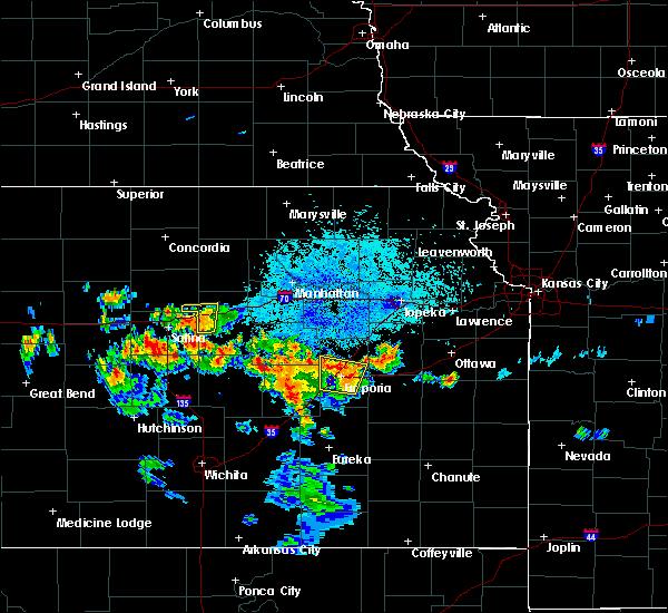 Radar Image for Severe Thunderstorms near Abilene, KS at 7/20/2020 9:31 PM CDT