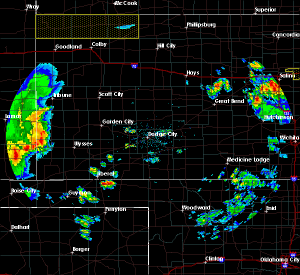 Radar Image for Severe Thunderstorms near Ulysses, KS at 7/20/2020 9:35 PM CDT