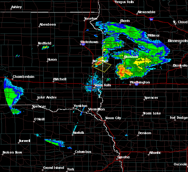 Radar Image for Severe Thunderstorms near Ward, SD at 7/20/2020 9:37 PM CDT