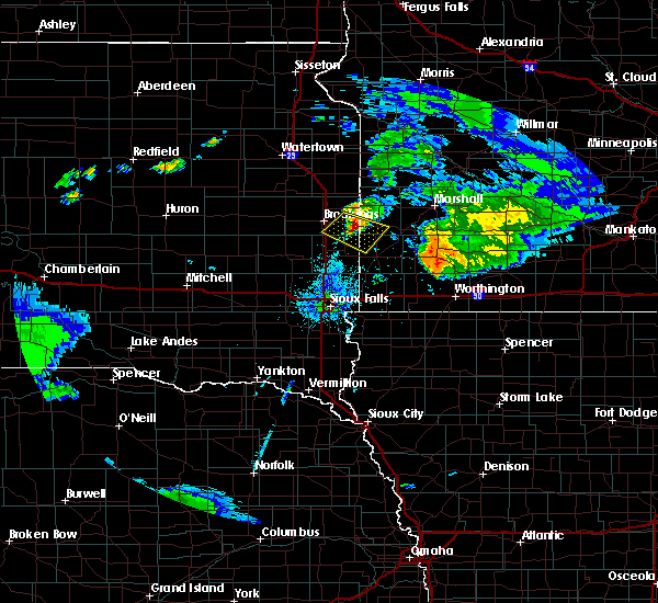 Radar Image for Severe Thunderstorms near Ward, SD at 7/20/2020 9:49 PM CDT