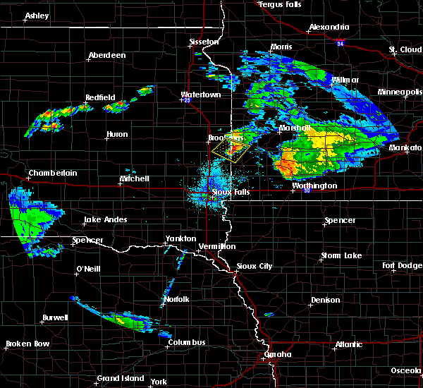 Radar Image for Severe Thunderstorms near Ward, SD at 7/20/2020 10:01 PM CDT