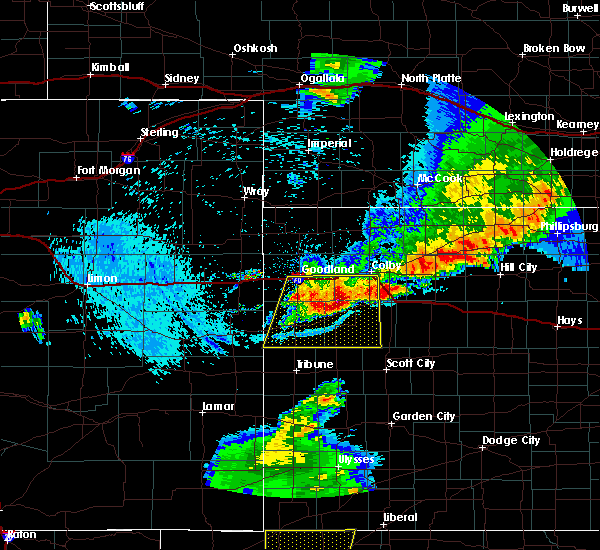 Radar Image for Severe Thunderstorms near Wallace, KS at 7/20/2020 10:24 PM MDT
