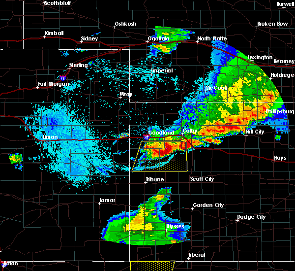 Radar Image for Severe Thunderstorms near Wallace, KS at 7/20/2020 11:34 PM CDT