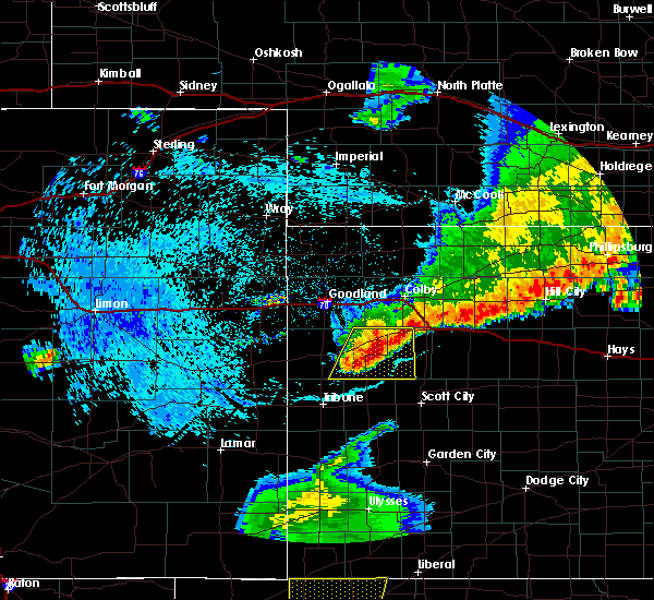 Radar Image for Severe Thunderstorms near Wallace, KS at 7/20/2020 11:47 PM CDT