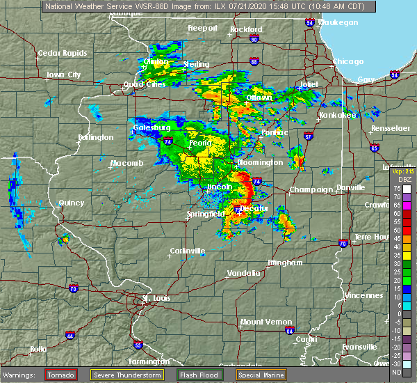 Radar Image for Severe Thunderstorms near Lake of the Woods, IL at 7/21/2020 10:51 AM CDT