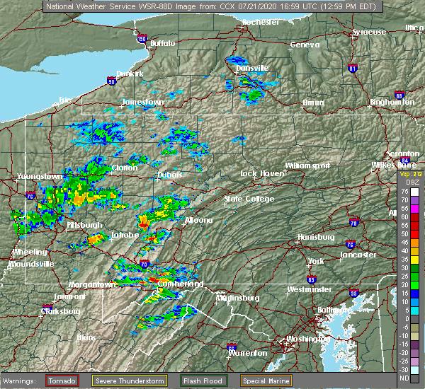 Radar Image for Severe Thunderstorms near Mundys Corner, PA at 7/21/2020 1:06 PM EDT