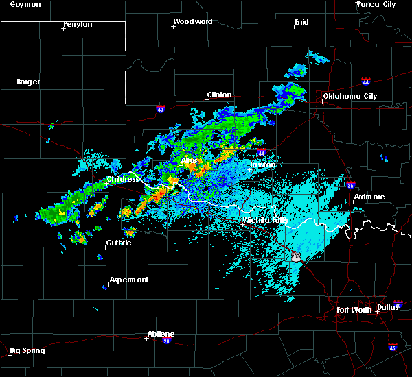 Radar Image for Severe Thunderstorms near Chillicothe, TX at 7/21/2020 12:59 PM CDT