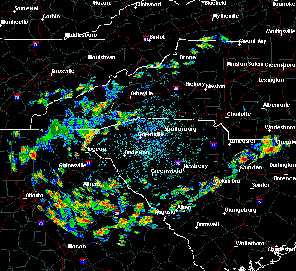 Radar Image for Severe Thunderstorms near Horse Shoe, NC at 7/21/2020 2:43 PM EDT