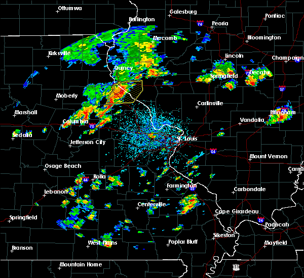 Radar Image for Severe Thunderstorms near Bowling Green, MO at 7/21/2020 2:04 PM CDT