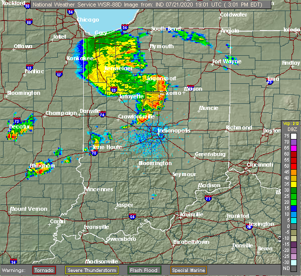 Radar Image for Severe Thunderstorms near Michigantown, IN at 7/21/2020 3:13 PM EDT