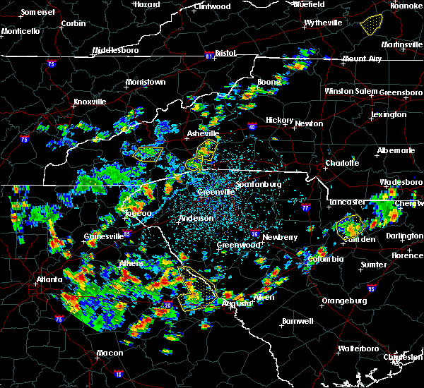 Radar Image for Severe Thunderstorms near Edneyville, NC at 7/21/2020 3:16 PM EDT