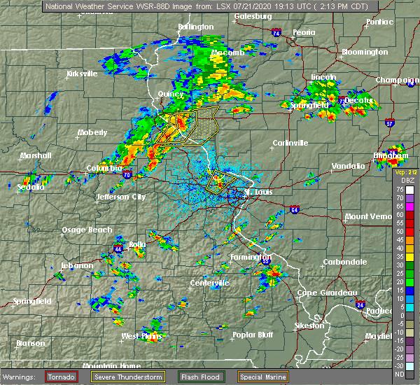 Radar Image for Severe Thunderstorms near Rosebud, MO at 7/21/2020 2:18 PM CDT