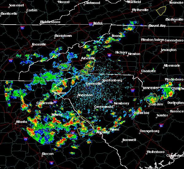 Radar Image for Severe Thunderstorms near Lincolnton, GA at 7/21/2020 3:25 PM EDT