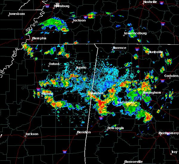Radar Image for Severe Thunderstorms near Carrollton, AL at 7/21/2020 2:51 PM CDT