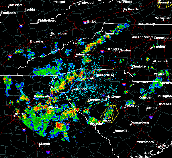 Radar Image for Severe Thunderstorms near Washington, GA at 7/21/2020 3:54 PM EDT