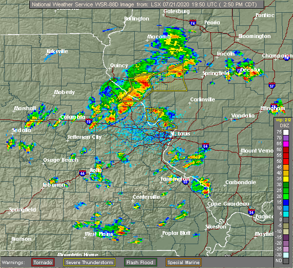 Radar Image for Severe Thunderstorms near White Hall, IL at 7/21/2020 2:54 PM CDT