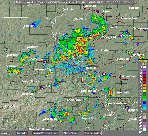 Radar Image for Severe Thunderstorms near White Hall, IL at 7/21/2020 3:30 PM CDT