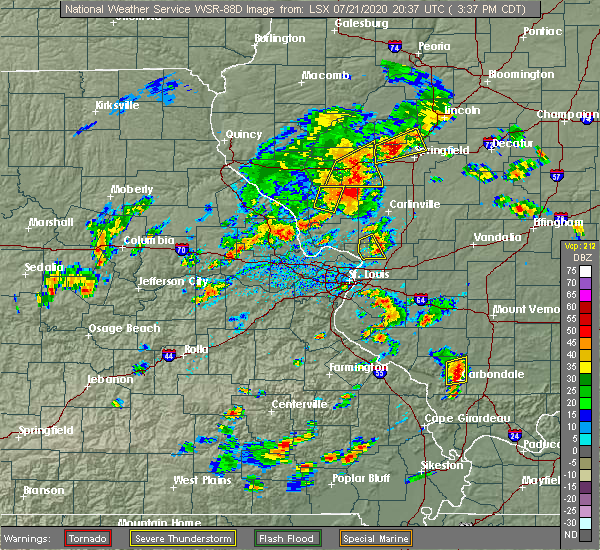 Radar Image for Severe Thunderstorms near White City, IL at 7/21/2020 3:41 PM CDT