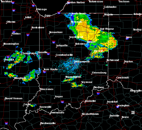 Radar Image for Severe Thunderstorms near Muncie, IN at 7/21/2020 4:44 PM EDT
