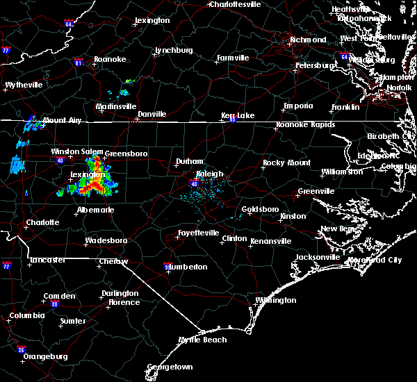 Radar Image for Severe Thunderstorms near High Point, NC at 7/1/2015 7:53 PM EDT