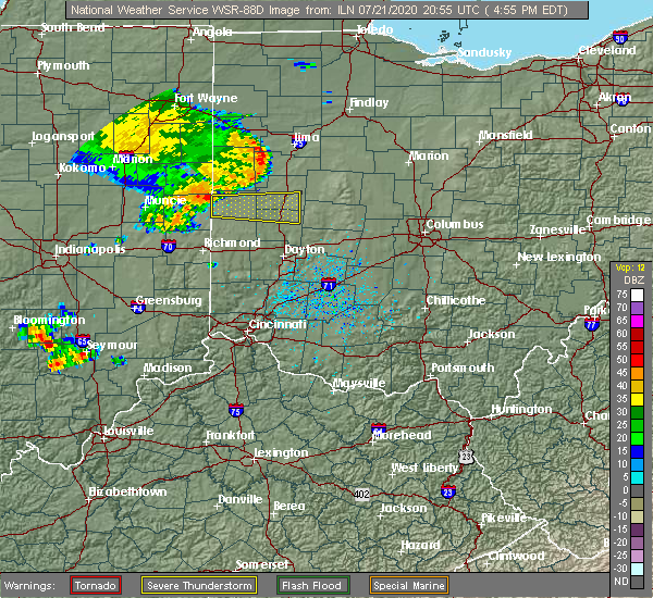 Radar Image for Severe Thunderstorms near Piqua, OH at 7/21/2020 4:58 PM EDT