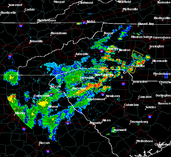 Radar Image for Severe Thunderstorms near Bethlehem, NC at 7/21/2020 5:59 PM EDT