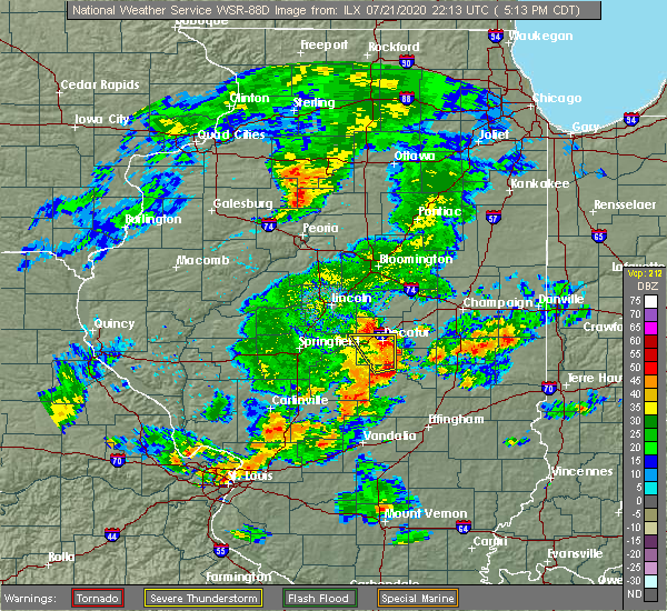 Radar Image for Severe Thunderstorms near Seymour, IL at 7/21/2020 5:17 PM CDT
