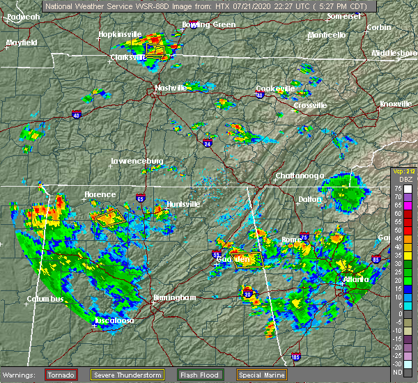 Radar Image for Severe Thunderstorms near Broomtown, AL at 7/21/2020 5:32 PM CDT