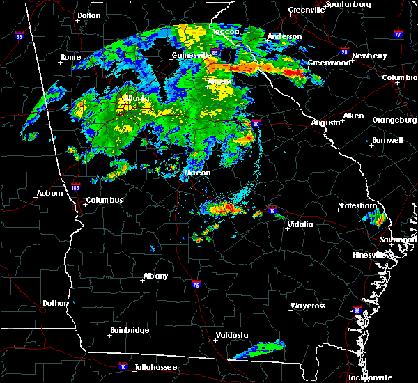 Radar Image for Severe Thunderstorms near Rentz, GA at 7/1/2015 8:27 PM EDT