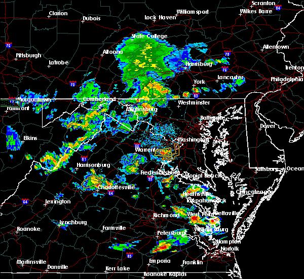 Radar Image for Severe Thunderstorms near Wakefield, VA at 7/21/2020 6:37 PM EDT