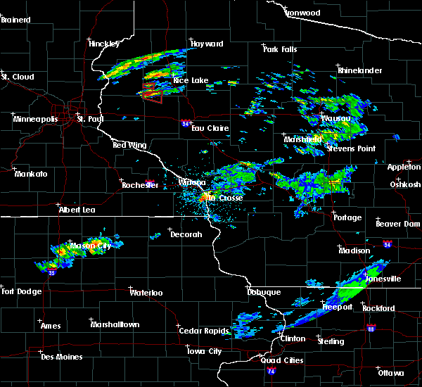 Radar Image for Severe Thunderstorms near Stoddard, WI at 7/21/2020 5:49 PM CDT